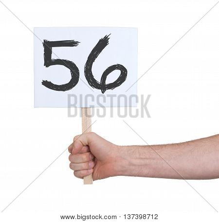 Sign With A Number, 56