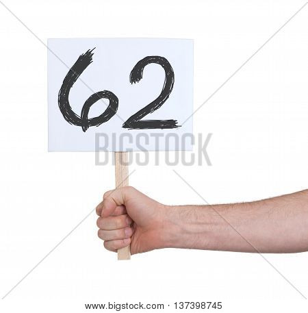 Sign With A Number, 62