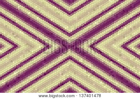 Illustration of a purple and vanilla colored mosaic cross