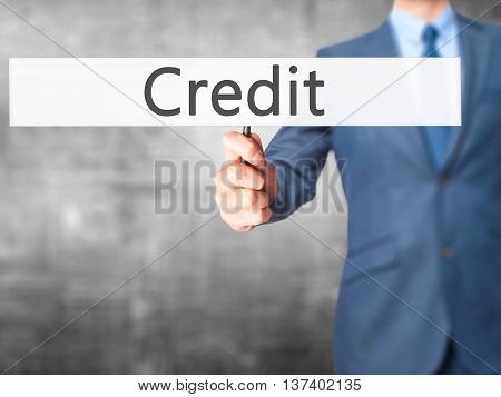 Credit - Business Man Showing Sign