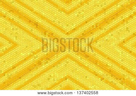 Illustration of a yellow and orange mosaic cross
