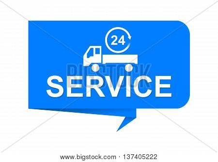 Illustration label for service providers, EPS 10