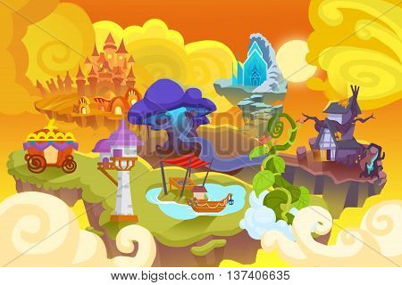 Creative Illustration and Innovative Art: Fairy Tale World. Realistic Fantastic Cartoon Style Artwork Scene, Wallpaper, Story Background, Card Design
