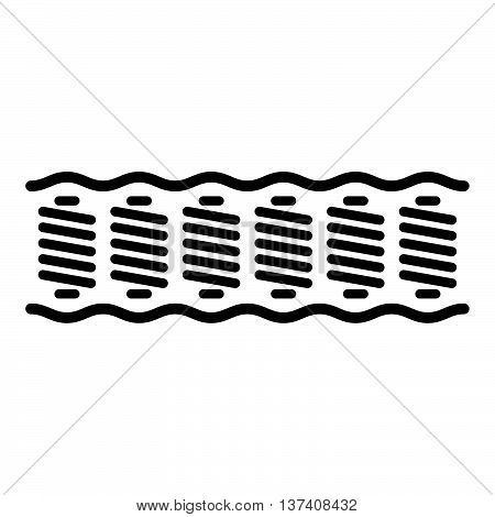 Spring mattress ( shade picture ) on white