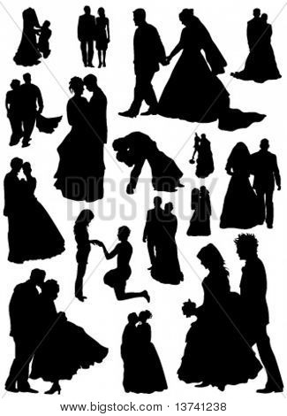 bride and groom vector (married people)