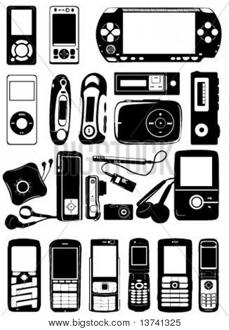 electronic vector (game, mp3 player, mobile phone, camera)