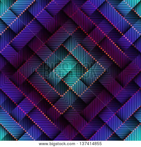 Seamless background pattern. Abstract technology matrix pattern