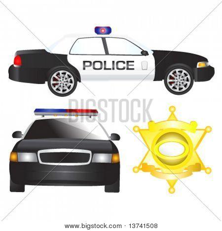 vetor de carro de polícia