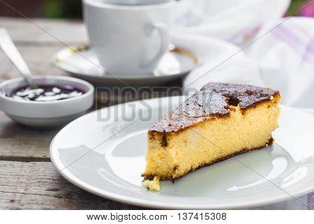 Cottage Cheese Casserole Piece