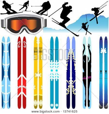 Ski-Vektor