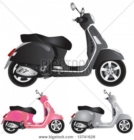 scooter detail illustration
