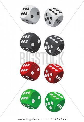 dice vector (four color)