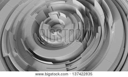 abstract 3d rendering background made of arcs randomly rotated with different height 3d rendering