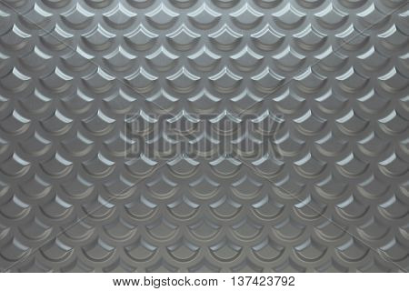 3d rendering metallic plate background with displacement texture sharp edges and roughness relections