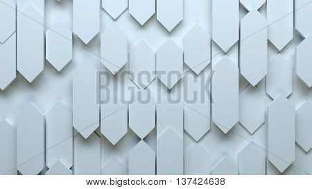 abstract 3d background made of oblong geometry