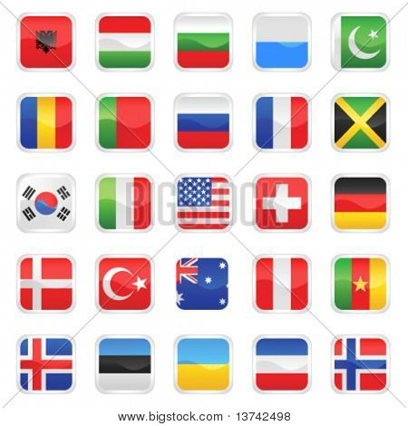 set of flags vector 2