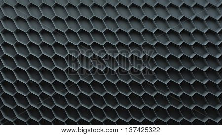 abstract 3d background with repeating hexigon pattern