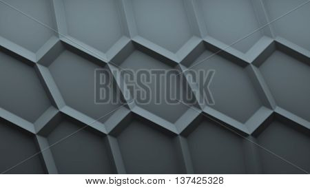 abstract 3d background with repeating sixgon pattern