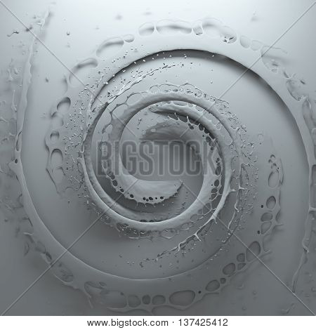 3d rendering background with circular splashes forms