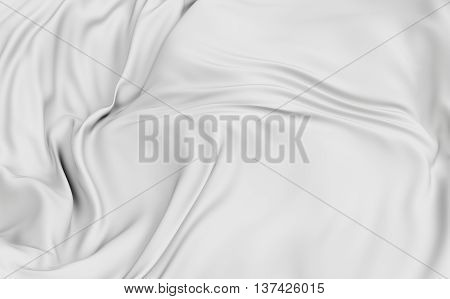 3d rendering cloth surface abstract background with deformed plane shape with folds and waves