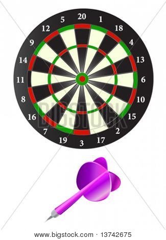 dartboard and arrow vector
