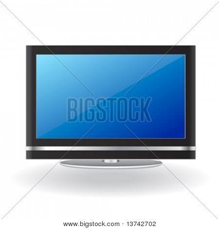 vector de tv LCD