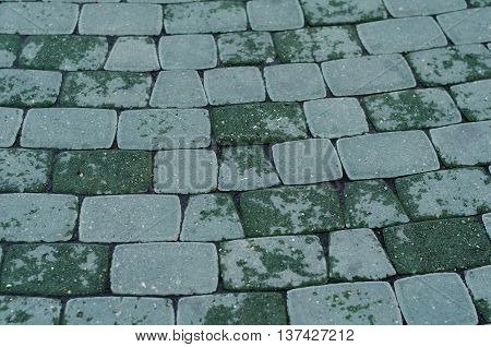 Cobbled Pavement Pattern Made Of Cubes.