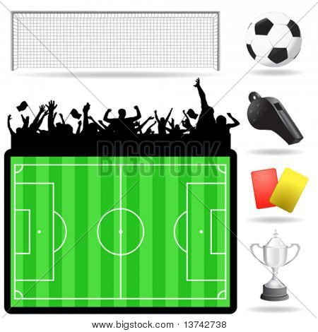 Fussball Great Set Vector