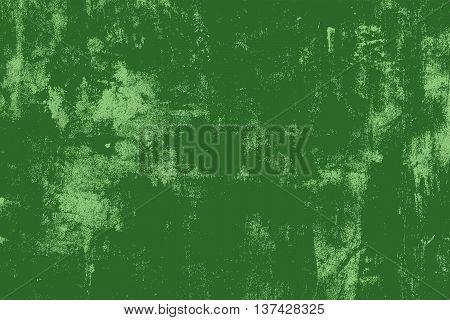 Distress Green Messy Grunge Texture. Empty Design Element.  EPS10 vector.