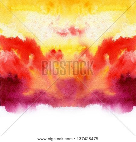 Gradient watercolor texture which resembles to fire or sunset.