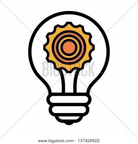 Bulb or great idea isolated flat icon design, vector illustration.