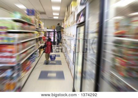 Kid Shopping Grocery