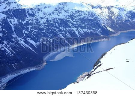 Fjords And Snow-capped Mountains