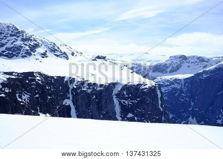 Panorama Of Snow-capped Mountains
