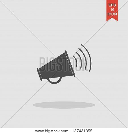 Megaphone Icon. Flat Design Style.