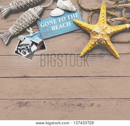 Gone to the Beach Summer Holiday Vacation Memories Concept