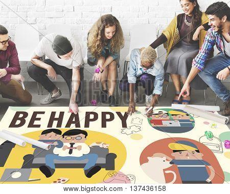 Be Happy Activity Leisure Activity Concept