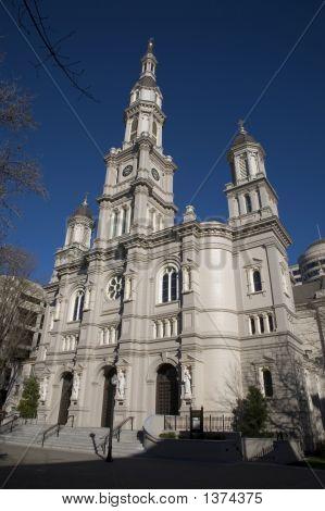 Old Church Clear Blue Sky