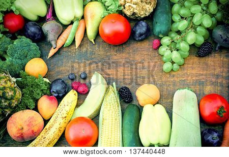 Food recommended for detoxification body - fruit and vegetable as a strong antioxidant