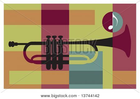 abstract music background (trumpet)