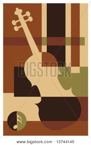 abstract music background (violin)
