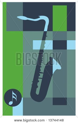 abstract music background (saxophone)