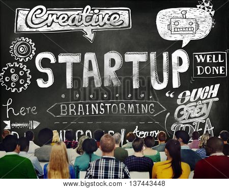 Startup Business Launch New Business Concept
