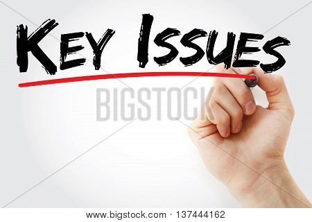 Hand Writing Key Issues With Marker