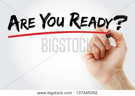 Hand Writing Are You Ready?