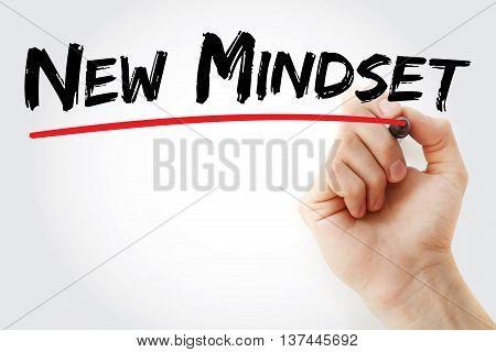 Hand Writing New Mindset