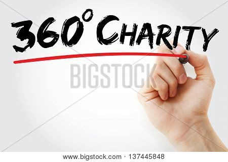 Hand Writing 360 Degrees Charity