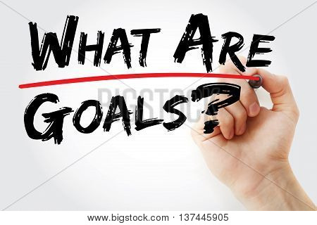 Hand Writing What Are Your Goals?