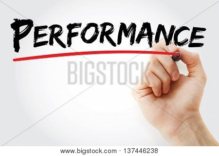 Hand Writing Performance With Marker