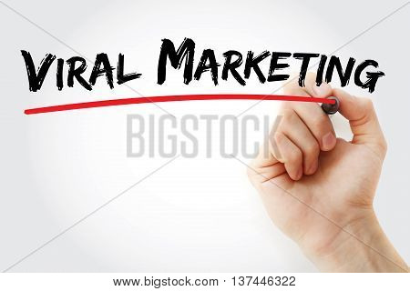 Hand Writing Viral Marketing With Marker